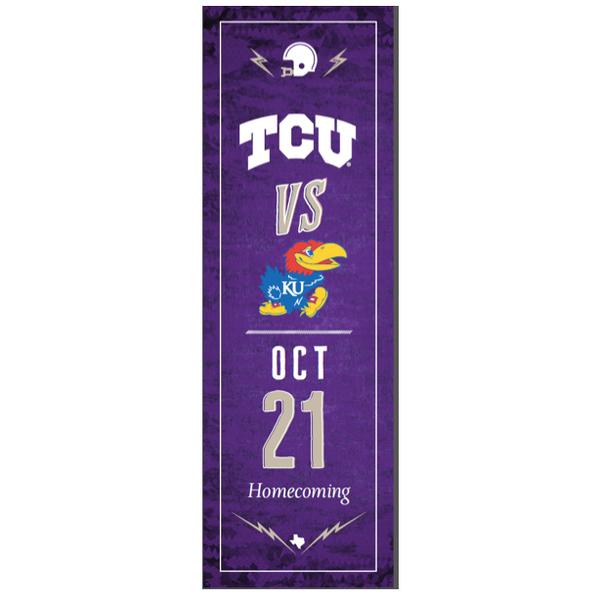 Photo of TCU vs. Kansas Football Street Banner (A)