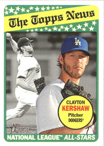 Photo of 2018 Topps Heritage #256 Clayton Kershaw