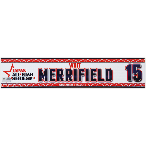 Photo of 2018 Japan Series Game-Used Locker Tag - Whit Merrifield -  Royals