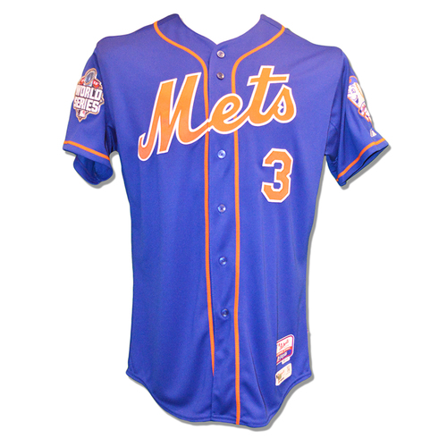 Photo of Curtis Granderson #3 - Team Issued Blue Alt. Home Jersey - 2015 World Series