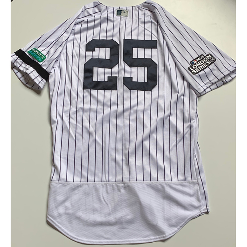 Photo of 2019 London Series - Game-Used Jersey - Gleyber Torres, New York Yankees vs Boston Red Sox - 6/29/19