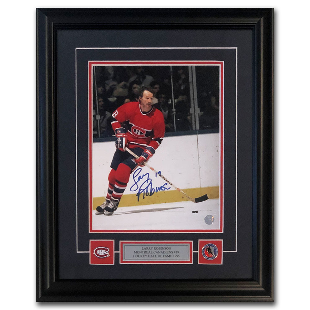 Larry Robinson Autographed Montreal Canadiens Framed 8X10 Photo
