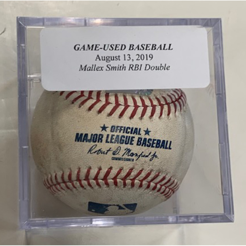 Game-Used Baseball: Mallex Smith RBI Double