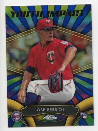 Photo of 2016 Topps Chrome Youth Impact #YI19 Jose Berrios