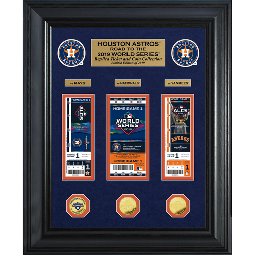 "Photo of 2019 Houston Astros AL Champions ""Road to the World Series"" Deluxe Gold Coin & Ticket Collection"