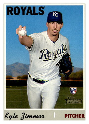 Photo of 2019 Topps Heritage #653 Kyle Zimmer RC