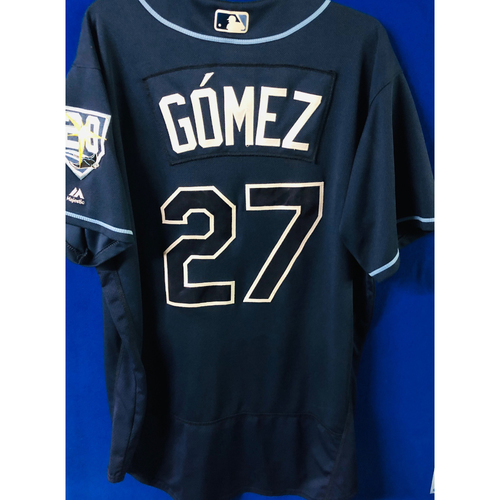 Game-Used Jersey: Carlos Gomez (size 48) - September 29, 2018 v TOR