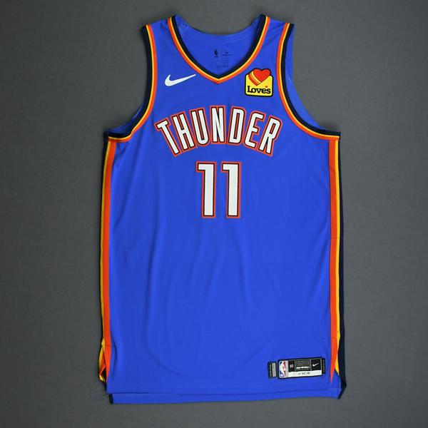 Image of Abdel Nader - Oklahoma City Thunder - Game-Worn Icon Edition Jersey - 2019-20 Season