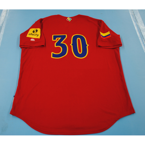 Photo of 2017 World Baseball Classic: Colombia Batting Practice Jersey #30 - Horacio Acosta - Size L
