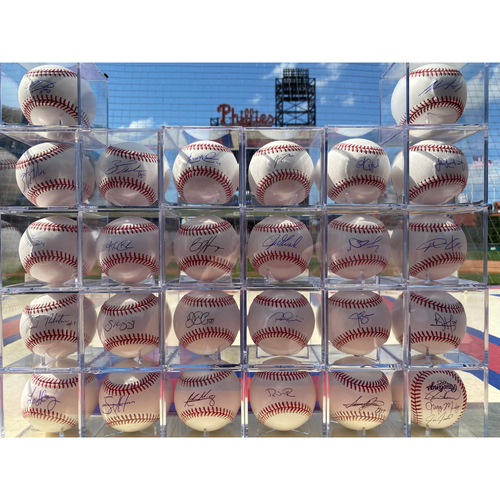 Photo of 2020 Philadelphia Phillies Autographed Baseballs Set of 26