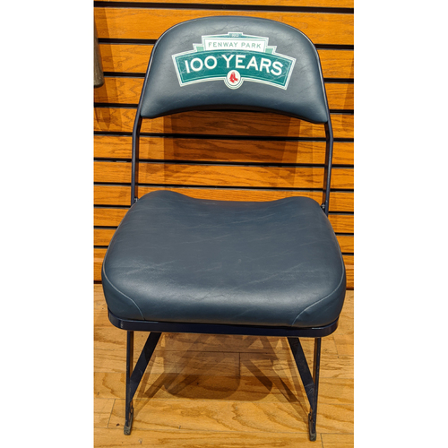 Photo of Fenway Park 100 Years Logo Visiting Locker Room R.A. Dickey Chair