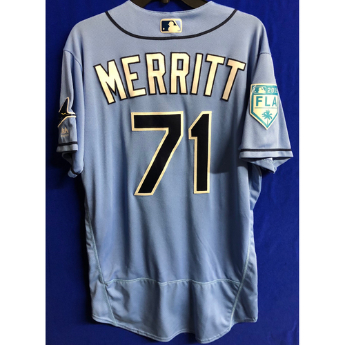 Photo of Team Issued Spring Training Jersey: Ryan Merritt - 2019