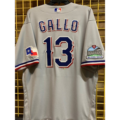 Photo of Joey Gallo Team-Issued 2020 Grey Jersey With Globe Life Field Inaugural Season Patch