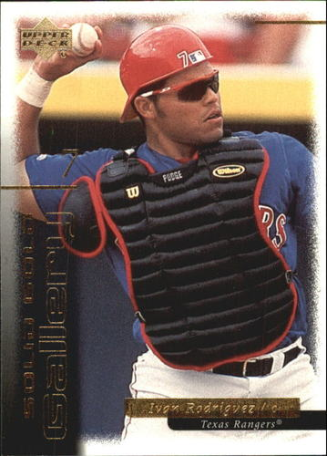 Photo of 2000 Upper Deck Gold Reserve Solid Gold Gallery #G11 Ivan Rodriguez