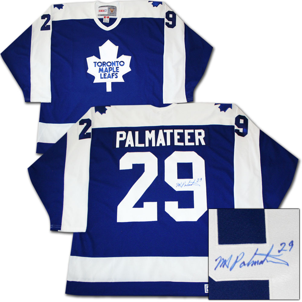 Mike Palmateer Autographed Toronto Maple Leafs Jersey