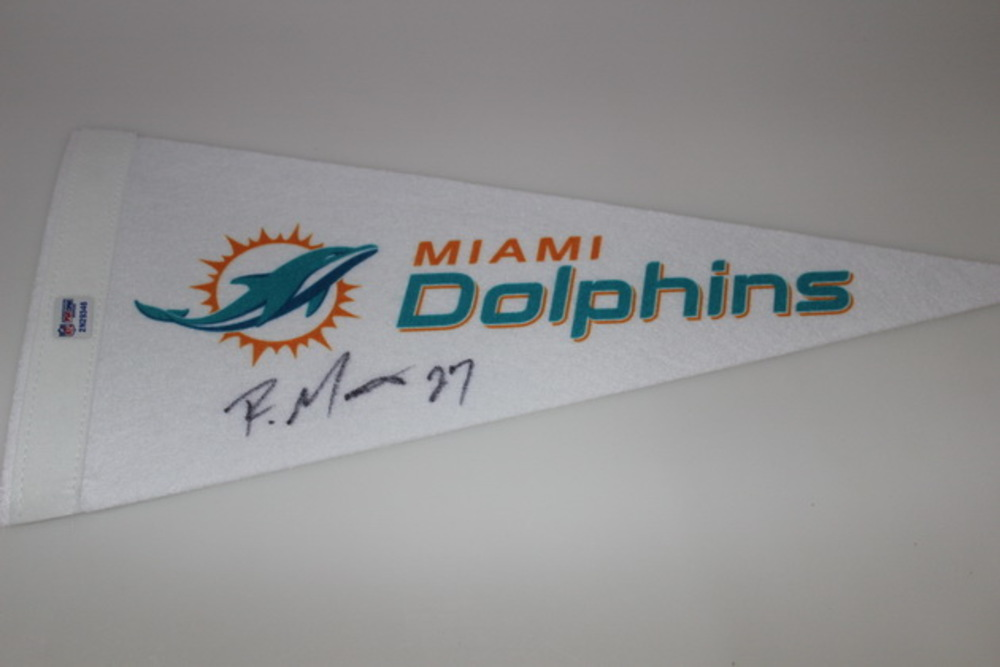 DOLPHINS - RAHEEM MOSTERT SIGNED DOLPHINS PENNANT