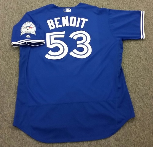 Authenticated Game-Used #53 Joaquin Benoit Alternate Jersey - worn July 27, 2016 vs San Diego Padres. Benoit went 1.0IP, 0H, 0R, 0ER, 2BB, 2SO.