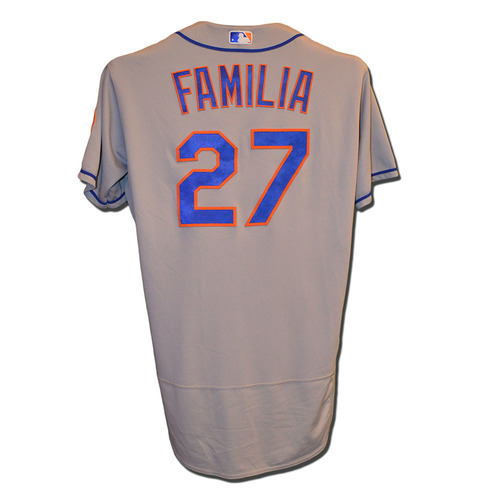 Jeurys Familia #27 - Game Used Road Grey Jersey - 1IP, 2 K - Mets vs. Marlins - 9/19/17