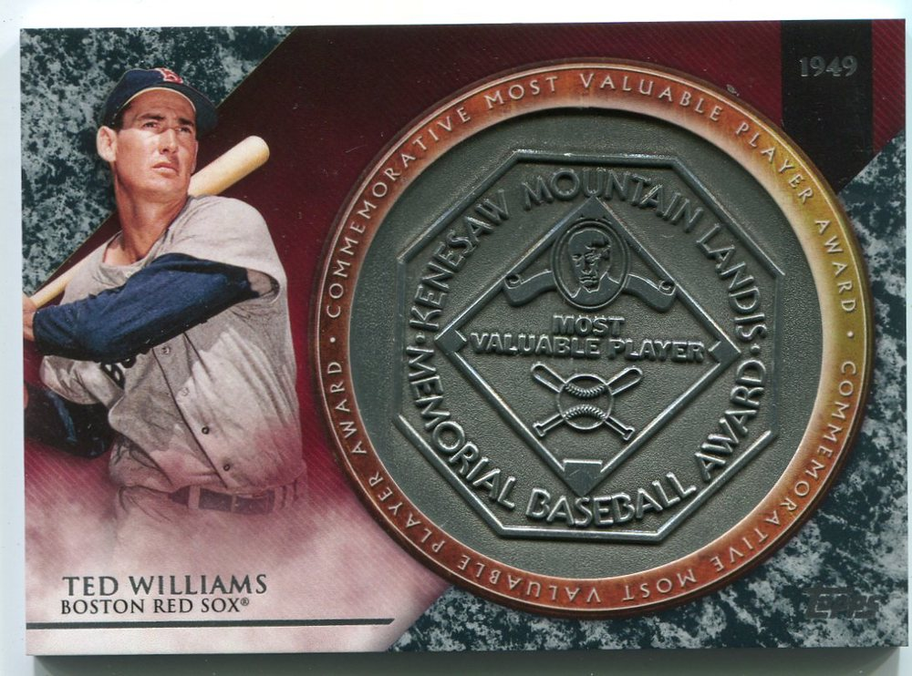2017 Topps Update MVP Award Relics #MVPRTWI Ted Williams