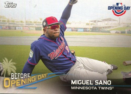 Photo of 2018 Topps Opening Day Before Opening Day #BODMS Miguel Sano