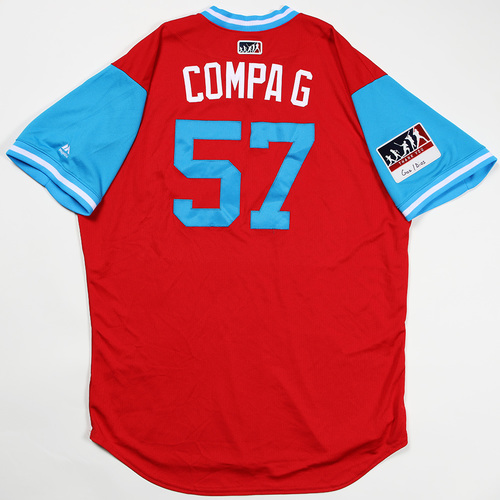 "Photo of Luis ""Compa G"" Garcia Philadelphia Phillies Game-Used Jersey 2018 Players' Weekend Jersey"