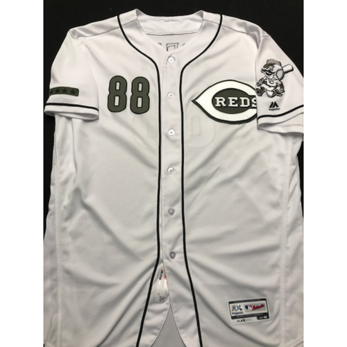 Photo of Derrin Ebert - Game-Used - Military Appreciation Jersey (Worn: 2018)