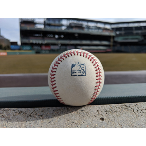 Photo of Colorado Rockies Game-Used Baseball - Musgrave v. Florimon -  Groundout to Arenado - September 24, 2018