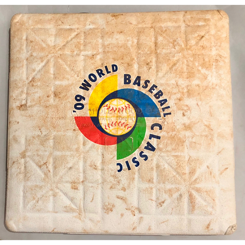 Photo of 2009 World Baseball Classic Game Used Base- 3rd Base (Entire Game) (Italy vs. Venezuela)