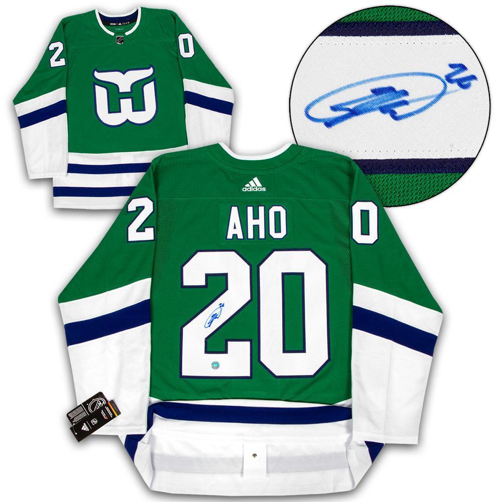 Sebastian Aho Carolina Signed Hartford Whalers Adidas Authentic Hockey Jersey