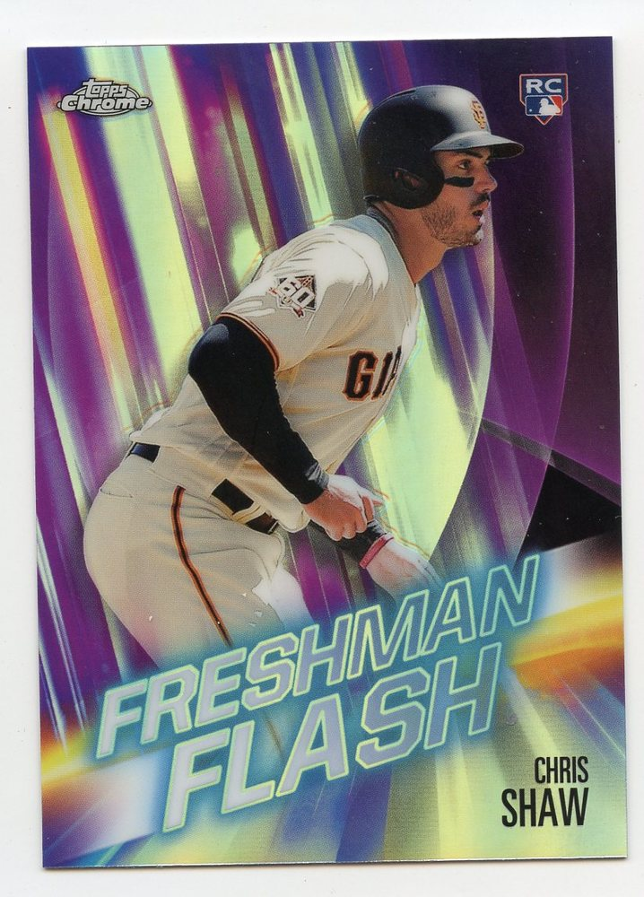 2019 Topps Chrome Freshman Flash #FF11 Chris Shaw