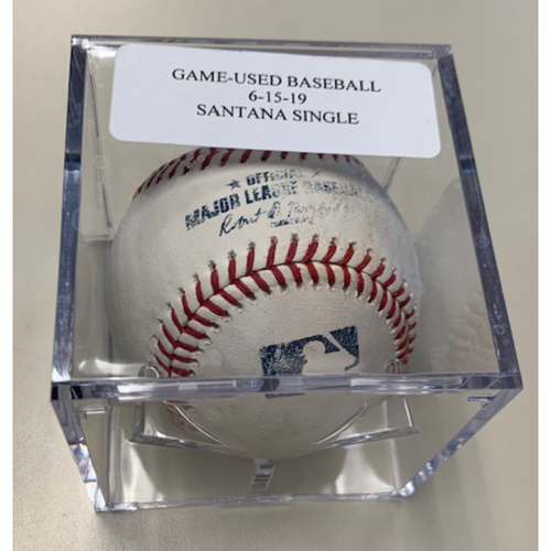 Photo of Game-Used Baseball: Carlos Santana Single