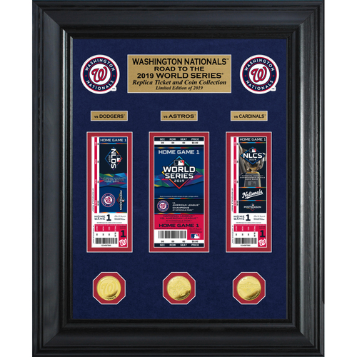 "Photo of 2019 Washington Nationals NL Champions ""Road to the World Series"" Deluxe Gold Coin & Ticket Collection"