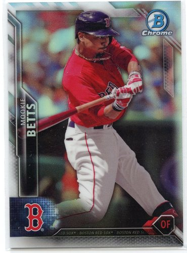Photo of 2016 Bowman Chrome Refractors #22 Mookie Betts