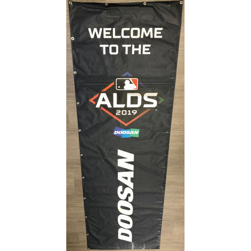 Photo of Rays Baseball Foundation: Team Issued 2019 Postseason Street Banner