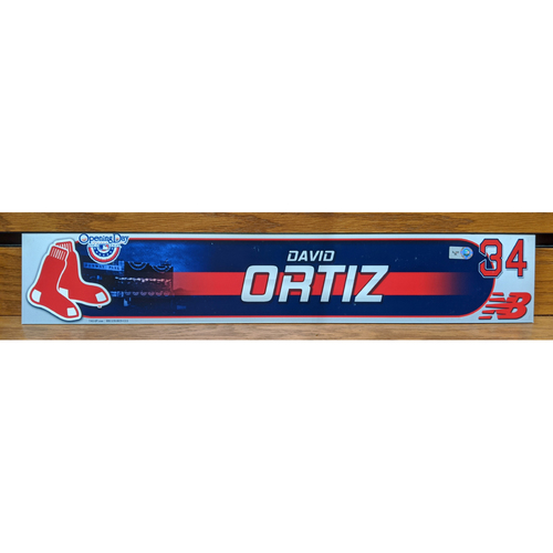 David Ortiz Team Issued Locker Tag