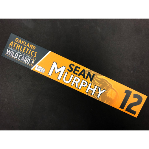 Photo of Game-Used 2020 A.L. Wild Card Locker Nameplate - Sean Murphy