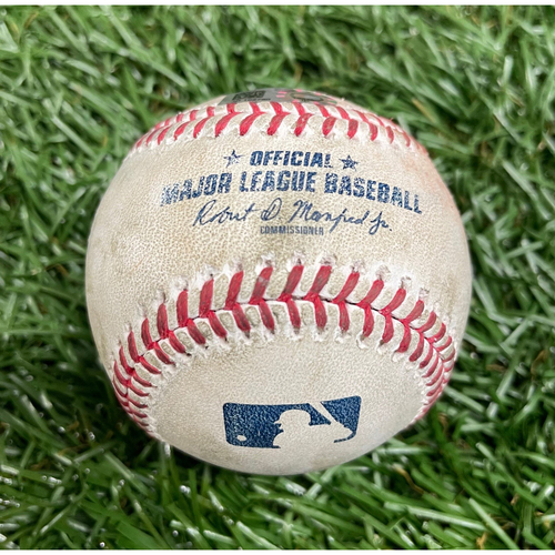 Photo of Game Used Baseball: Tyler Glasnow strikes out Jazz Chisolm - Top 2 - September 6, 2020 v MIA