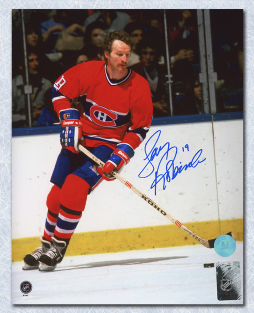 Larry Robinson Montreal Canadiens Autographed Big Bird Hockey 8x10 Photo