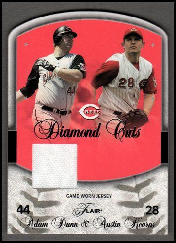 Photo of 2005 Flair Diamond Cuts Jersey Die Cut #AD Adam Dunn
