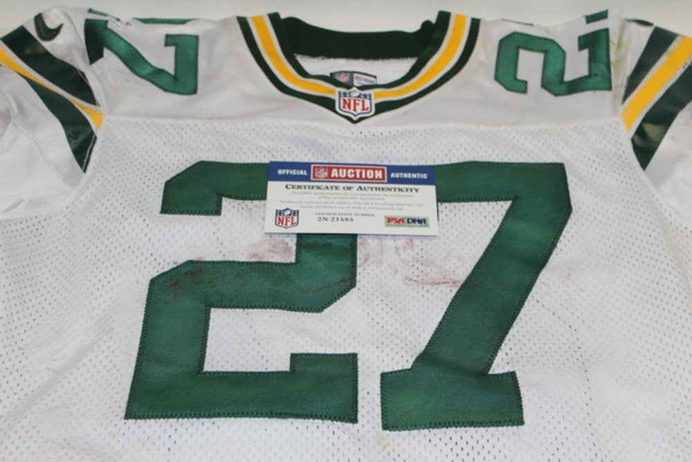 BCA - PACKERS EDDIE LACY GAME WORN PACKERS JERSEY (NOVEMBER 1, 2015)