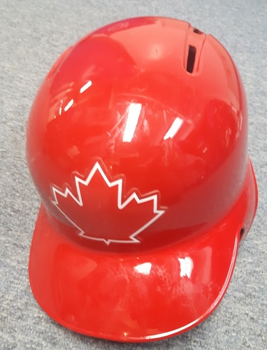 Authenticated Game Used Helmet - #55 Russell Martin. Size 7 1/2.