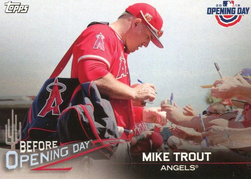 Photo of 2018 Topps Opening Day Before Opening Day #BODMT Mike Trout