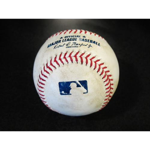 Photo of Game Used Baseball: Felix Hernandez Strikes Out Matt Joyce. Two balls to Marcus Semien. SEA-OAK 4-15-2018.