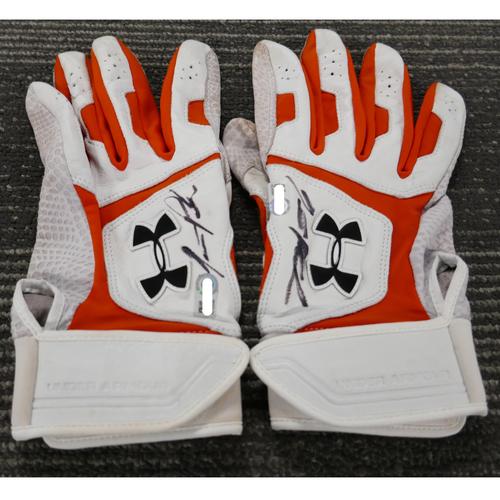 Photo of San Francisco Giants - Autographed Batting Gloves - Jarrett Parker (pair)