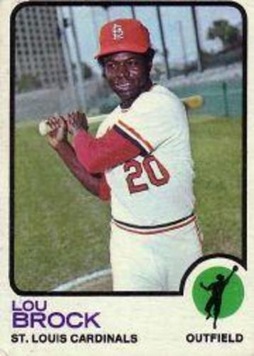 Photo of 1973 Topps #320 Lou Brock Hall of Fame Class of 1985