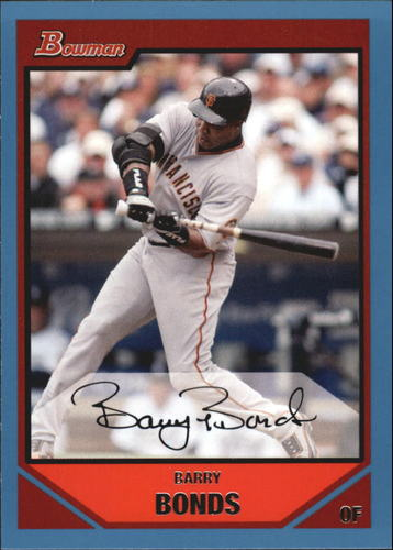 Photo of 2007 Bowman Blue #237 Barry Bonds
