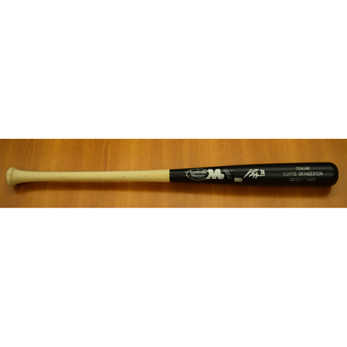 Photo of Curtis Granderson Autographed Clubhouse Issued Player Model Bat