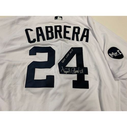 Autographed Game-Used Fiesta Tigers Jersey: Miguel Cabrera