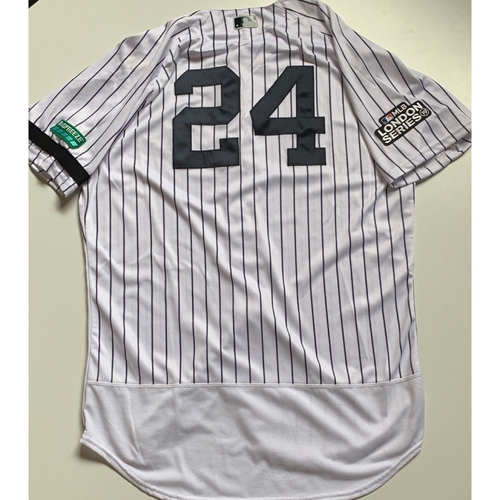 Photo of 2019 London Series - Game-Used Jersey - Gary Sanchez, New York Yankees vs Boston Red Sox - 6/29/19