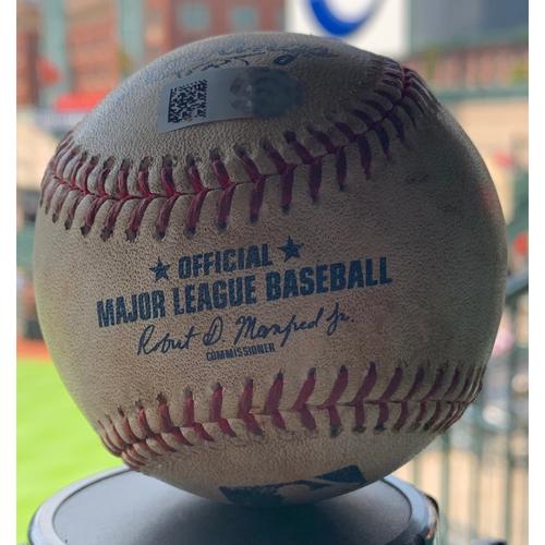 Photo of Game-Used Baseball Astros vs Mariners 9/5/19: Joe Smith to Dylan Moore (Single)